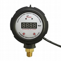 Remote digital pressure gauges for small outer plastic shells