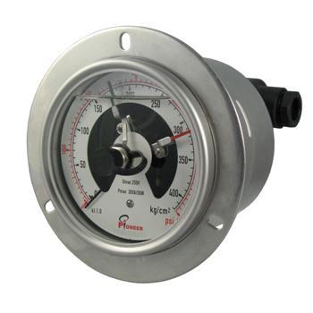 PIONEER優質100mm全不鏽鋼電接點壓力表 9
