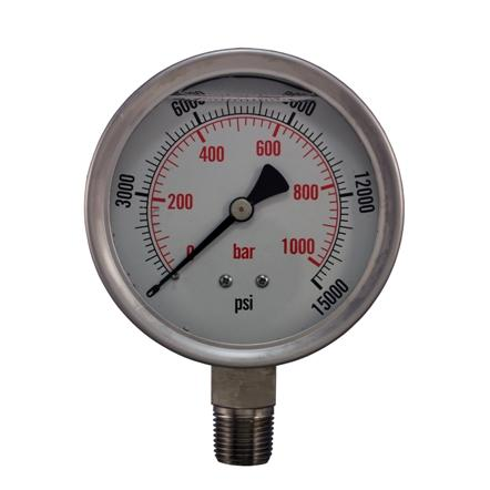 All stainless steel pressure gauge 9