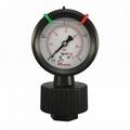 過濾機用PP隔膜壓力表
