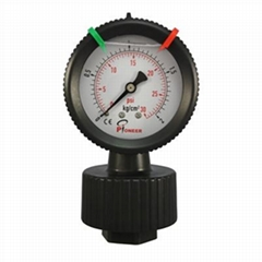 Pressure gauge for filter
