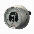 100mm堅固型面板式耐震不鏽鋼電接點壓力表