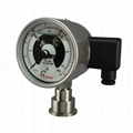 Electric contact diaphragm pressure gauge