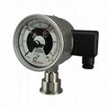 PIONEER牌100mm表径沙磨机用不锈钢耐震电接点隔膜压力表