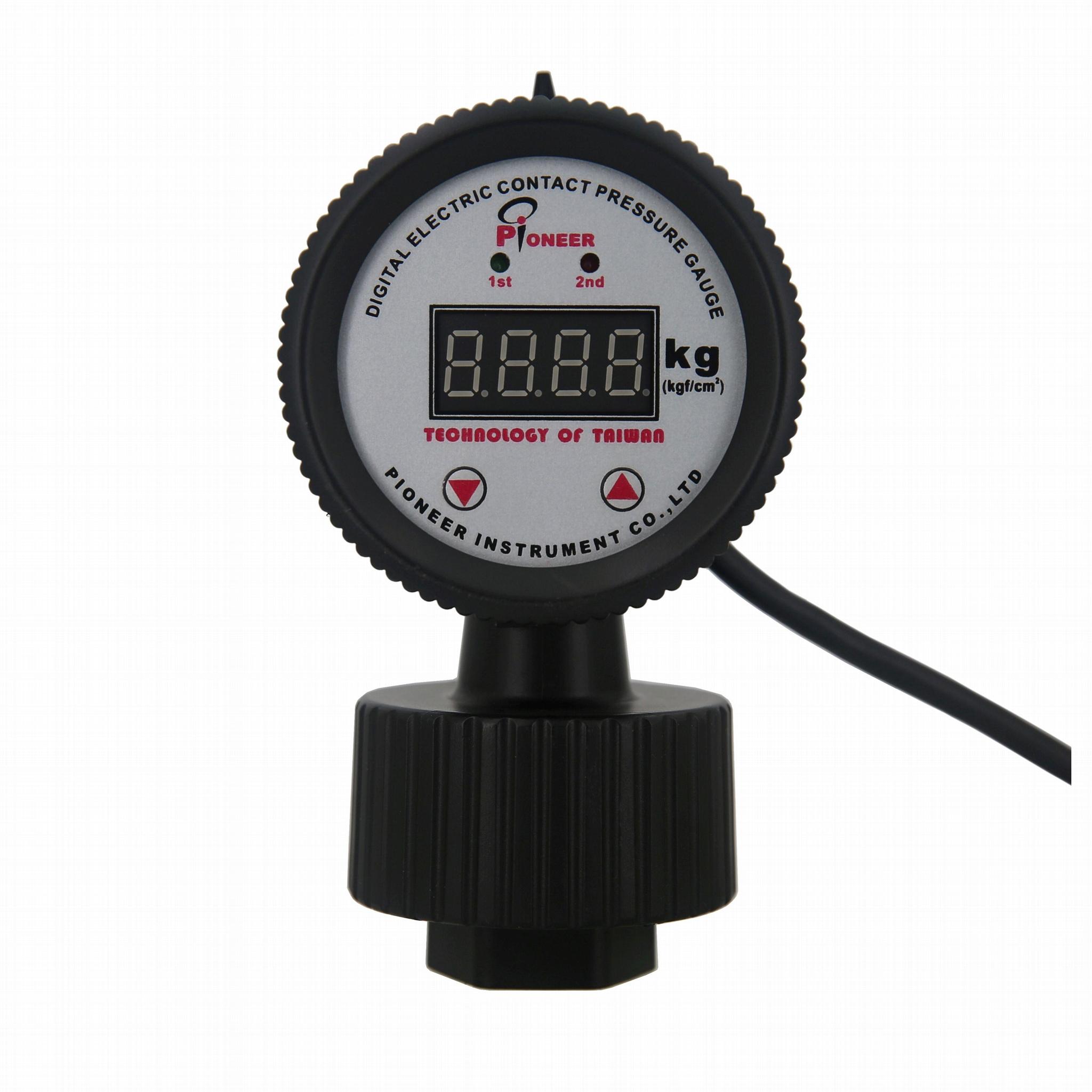 PP digital display electric contact diaphragm pressure gauge