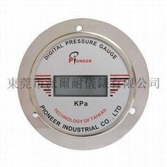 PIONEER牌100mm面板式高精度数显压力表