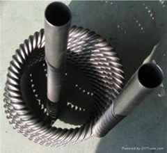 titanium corrugated tube heat exchanger