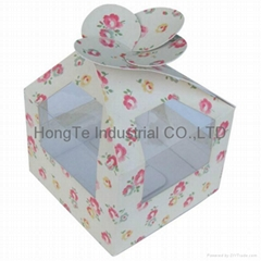 Paper gift box with PVC window