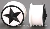 Silicone ear plug body jewelry