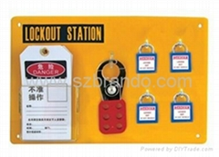 BO-S21/S22 4-Lock Lockout center, Safety Lock Station for locks