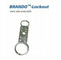 BO-K61Double-end  aluminum HASP lockout , Safety HASP lockout