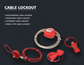 BO-L11 Adjustable Cable Lockout,Safety Cable lock,