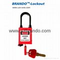 BO-G15 ABS Padlocks with Dustproof Nylon Shackle