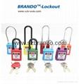 BO-G15 ABS Padlocks with Dustproof Nylon Shackle