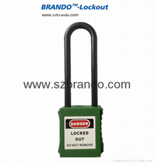 BO-GL11 Long Shackle 76mm Nylon Padlocks