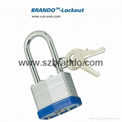 BO-G54 50mm blue long shackle Laminated Padlock , Safety Lockout