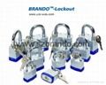 BO-G57 45mm colorful  Laminated Padlock , Safety Lockout