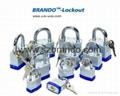 BO-G57 45mm colorful  Laminated Padlock , Safety Lockout