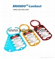 BO-K51 Eight Hole Aluminum Lockout Hasp
