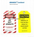 BO-T07 PVC Caution Tagout Label, Safety Tags