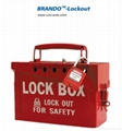 BO-X02 Safety Lock Station for locks , steel shackle box
