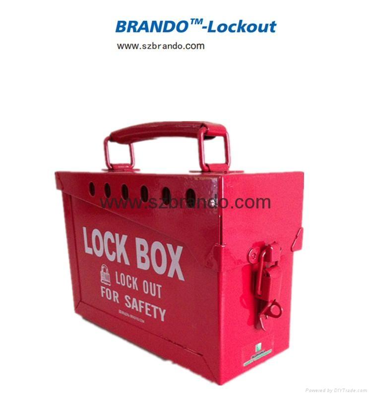 BO-X02 Safety Lock Station for locks , steel shackle box