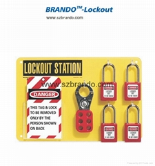 BO-S21/S22 4-Lock Lockout center, Safety Lock Station for locks
