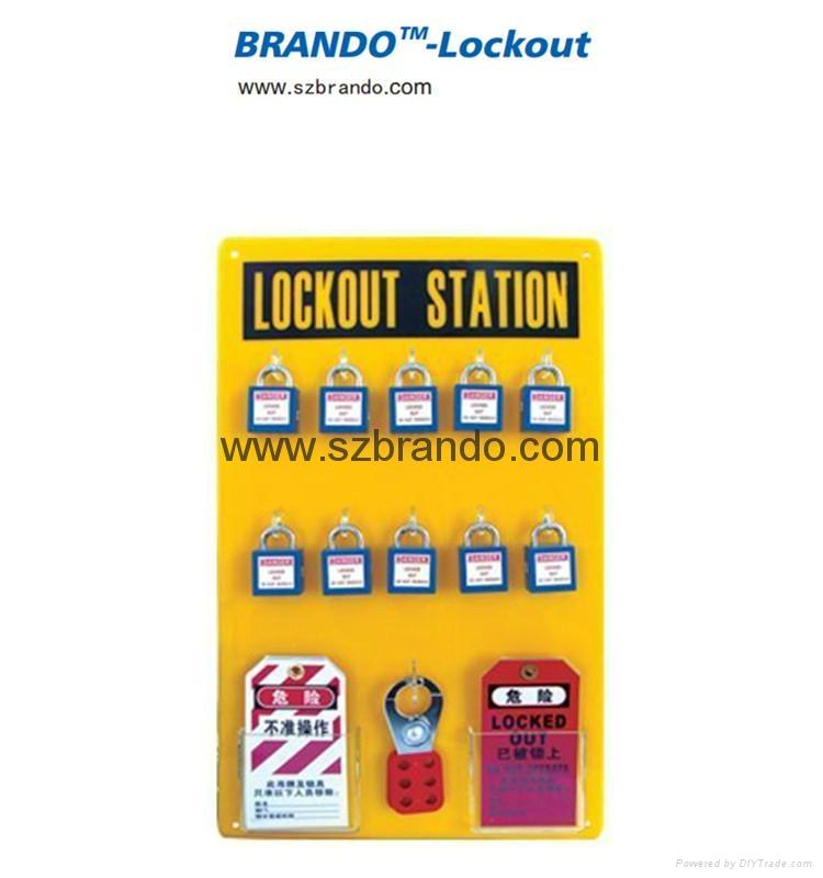 BO-S31/S32 10-LOCK Lockout Center Safety Lock Station for locks