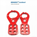 BO-K23/K24 Vinyl Coated steel HASP with hooks, Safety HASP lockout