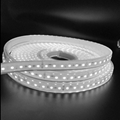Cuttable led strip light with a mould injection waterproof connector