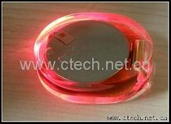 Flashing led garment light