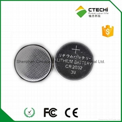 cr2032 battery voltage 3v  210mah Primary lithium button cell