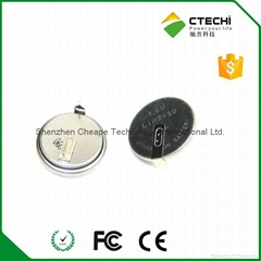LIR2450 rechargeable button cell 150mah high capacity  3.7v coin cell