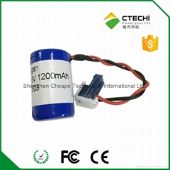 1s1p ER14250 with wires and connector 3.6V 1.2Ah (Hot Product - 1*)