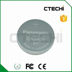 3v 620mAh coin cell Panasonic CR2450 battery  (Hot Product - 1*)