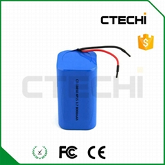 3.7v 8000mAh 18650 battery pack for solar light