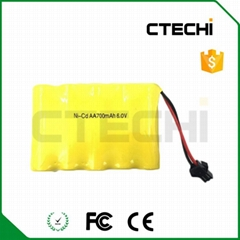 6V Ni-Cd AA 700mAh emergency light battery
