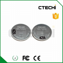 3V rechargeable coin cell battery Maxell ML1220 (Hot Product - 1*)