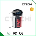 EVE ER14250 3.6V lithium battery with solder tabs