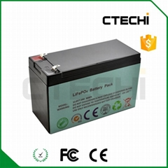Lifepo4 battery pack 12.8V 7.5Ah