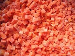 frozen carrot diced