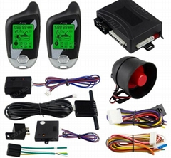2 way car alarm system auto start vibration alarm microwave/shock warn