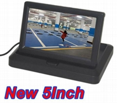 "5"" Folding Digital Screen Video DVD Player 12/24V HD CCD Car Display Monitor"