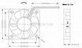 50x50x10mm DC Brushless Fan 12V 24V 50mm dc fan  3