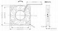 60x60x10mm 12V/24V DC Cooling Fan 3D Printer cooling fan 2