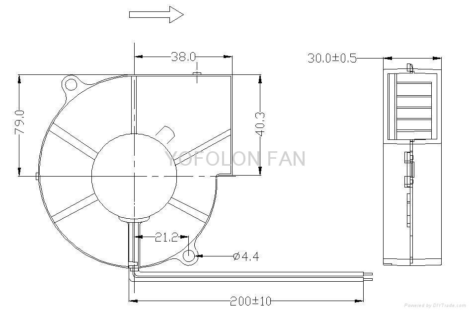 97x97x33mm 12V 24V High flow DC Blower Fan for Car seat cooling blower fan 4
