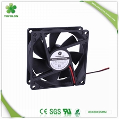 80x80x25mm 12V/24V DC Cooling Fan CPU cooler fan