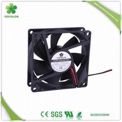80x80x25mm 12V/24V DC Cooling Fan CPU cooler fan