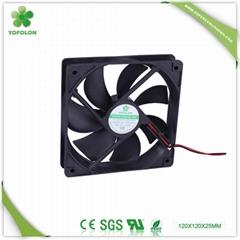 120x120x25mm LED Board DC Cooling Fan 5V/12V axial flow fan
