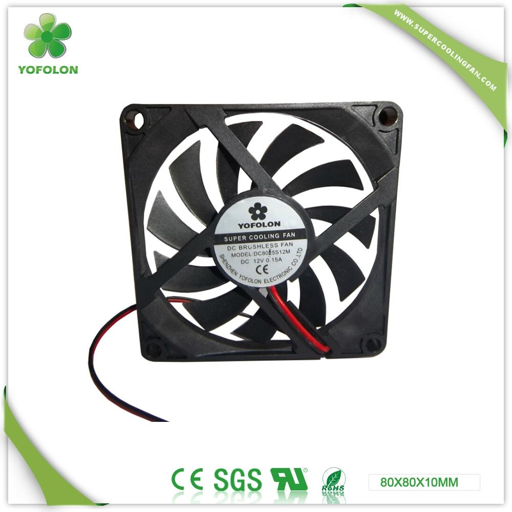 80x80x10mm DC Cooling Fan for LED Board 12v cooling fan  2